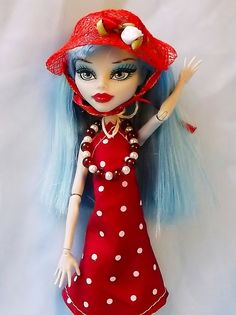 Red White Polka Dot Summer Dress Red Flowered by CuteWeirdFluffy, $15.99