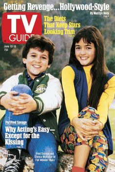 TV Guide June 10, 1989 - Fred Savage and Danica McKellar of The Wonder Years.
