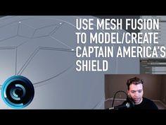 Creating Captain America Shield Mesh Fusion Modo 901 - YouTube