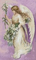 An Angel for Easter to Cross stitch free pattern....