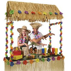 Tabletop Tiki Hut. 55 inches high x 56 inches wide x 22 inches deep.  I want to DIY this with PVC pipe and paint it to look like bamboo.