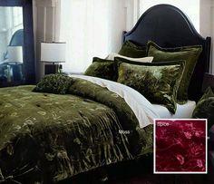 Velvet Floral Comforter Set