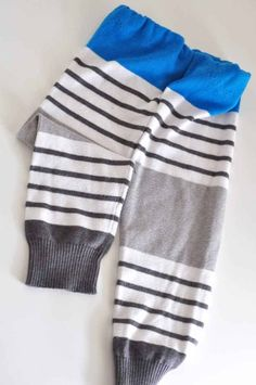 These EASY 10-minute upcycled sweater pants are so cute on your baby/toddler, and are an awesome way to repurpose an old sweater! Beginner-level instructions for sewing by hand or machine. #DIY #Upcycle #baby Sewing Baby Clothes, Baby Sewing, Old Sweater, Upcycled Sweater, Baby Sweaters, Wool Sweaters, Baby Bloomers Pattern, Newspaper Dress, Baby Pants