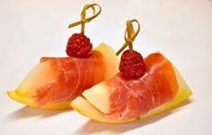lekker een bootje van meloen met ham