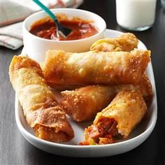 Pizza Rolls Recipe -This is my husband's version of store-bought pizza rolls, and our family loves them. Although they take some time to make, they freeze well. So when we're through, we get to enjoy the fruits of our labor for a long time! —Julie Gaines, Normal, Illinois
