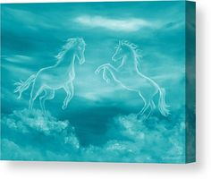 Celestial Horses Acrylic Print by Faye Anastasopoulou. All acrylic prints are professionally printed, packaged, and shipped within 3 - 4 business days and delivered ready-to-hang on your wall. Canvas Art, Canvas Prints, Art Prints, Thing 1, Horse Art, Wood Print, Artist At Work, Art Oil, Colorful Backgrounds