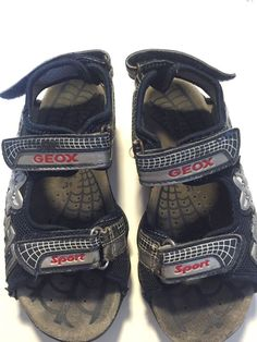 Geox Sandals For Boys Size 2 With Velcro Blue Color  #Geox #Sandals