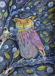 Mr Speaker by Judit Matthews Bird Paintings, Bird Drawings, Origami Paper, Painting & Drawing, Moose Art, Owl, Birds, Wallpaper, Animals