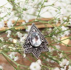 Hunstman Blue Topaz ring in store now at www.shopdixi.com // boho // bohemian // hippie // gypsy // gypset // inspiration // gemstone // sterling silver