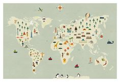 Top free vector art simple flat clear world map by freepik cosas mnimas world map print gumiabroncs Choice Image