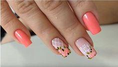 Nail Manicure, Diy Nails, Cute Nails, Pretty Nails, Vintage Nails, Diy Nail Designs, Flower Nail Art, Perfect Nails, Nail Arts