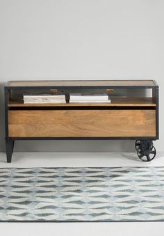 Humphrey media unit, £349 MADE.COM An industrial-inspired collection like Humphrey is the perfect way to get some machine age, vintage style. The range includes a shelving units and a coffee table.