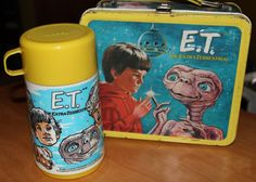 ET The ExtraTerrestrial 1982 metal lunchbox