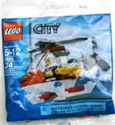 LEGO City Mini Figure Set #4900 Fire Helicopter Bagged by LEGO. $7.72. Warning Product Contains Small Parts. Not Intended For Children Under 4 Years of Age.
