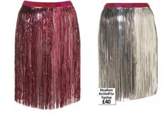 DIY tinsel skirt
