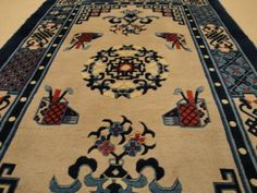 Original China Peking Design 1.51 x 0.93 m Handgeknüpft Schurwolle Einzelstück