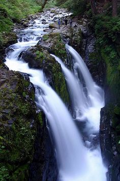 The Sol Duc Falls, Olympic National Park, Washington; photo by .rickz