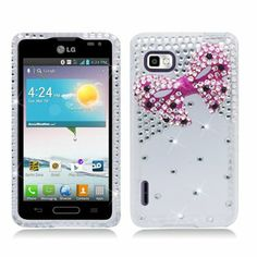 Plastic 3D Pink Bow Tie Clear Back Diamond Bling Hard Cover Snap On Case For LG Optimus F3 LS720 (StopAndAccessorize) Aimo,http://www.amazon.com/dp/B00EVCQLYM/ref=cm_sw_r_pi_dp_H63Xsb0BKAN0KDAC