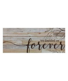 This 'Forever' Wall Art is perfect! #zulilyfinds