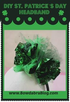 Easy DIY St Patrick's Day Headband how to tutorial Patricks day diy accessories DIY Crafts for St. Patrick's Day How To Make Headbands, How To Make Bows, Diy St Patricks Day Headband, Crafts For Seniors, Crafts For Teens, St. Patrick's Day Diy, St Patricks Day Crafts For Kids, Craft Tutorials, Craft Ideas