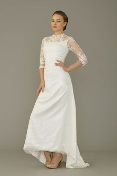 Lace Long-sleeved Sheath Gown by Flamingo Bridal SingaporeBrides Spring/Summer 2015 LookBook