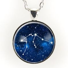 Aquarius Constellation Necklace, Astrology Zodiac Pendant