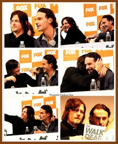 The Walking Dead's Norman Reedus - Daryl Dixon and Andrew Lincoln - Rick Grimes - Bromance.