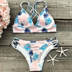Cupshe Out Of Mind Leaves Bikini Set