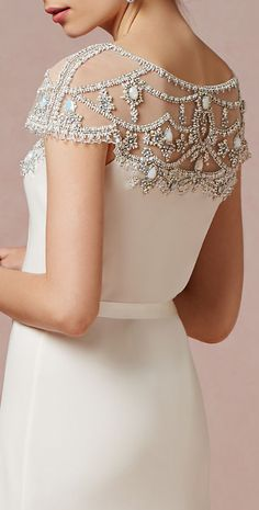 Beaded shoulders wedding dress Save up to 30% Off at Wedding & Bridal Boutique with Voucher.