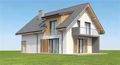 Projekt domu Aosta II Termo 130,27 m2 - koszt budowy 191 tys. zł - EXTRADOM