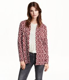 Straight-cut, jacquard-knit cardigan with long sleeves and no buttons. Cardigan En Maille, Knit Cardigan, H&m Online, Cardigans For Women, Pulls, Fashion Online, Style Me, Blazer, Knitting