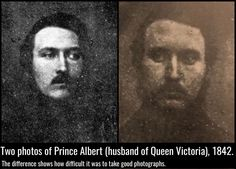 Two photos of Prince Albert (husband of Queen Victoria), 1842.