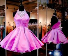 Homecoming Dress,Charming Prom Dress,New Prom Dress, Pink Homecoming
