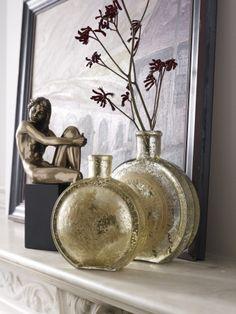 Libra's Sevilla Etched Gold Vases