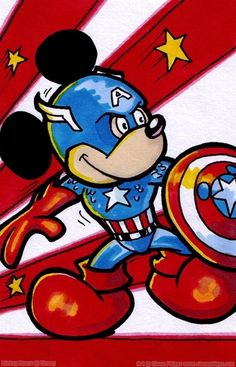 Captain America Mickey