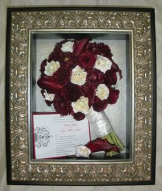 Freeze Dried Preserved Wedding Bouquet Flowers In Our Custom Shadow Box Facebook FloralKeepsakesBoutique FloralKeepsakes