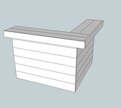 Hoekbar van steigerhout en barkrukken maken, gratis doe het zelf bouwtekeningen.
