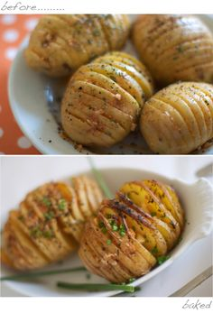 Parmesan Cheese Hasselback Baked Potatoes on MarlaMeridith.com