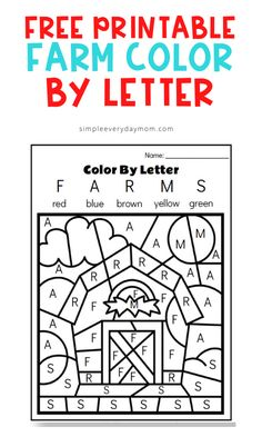 Free Farm Color By Letter