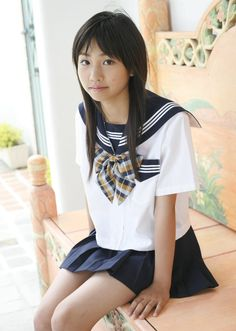 Girl in Uniform 😘 All Girls School, School Uniform Girls, Girls Uniforms, Beautiful Japanese Girl, Beautiful Asian Girls, Japanese School Uniform, Sailor Fashion, Cute Girl Photo, Japan Girl