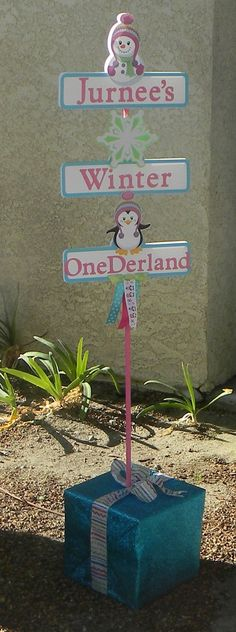 Winter Onederland Party Yard Sign/Centerpiece by YourPartyShoppe