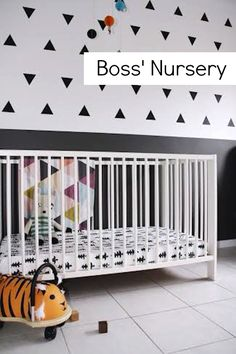 Boss' Black and White Nursery via Shoes Off Please