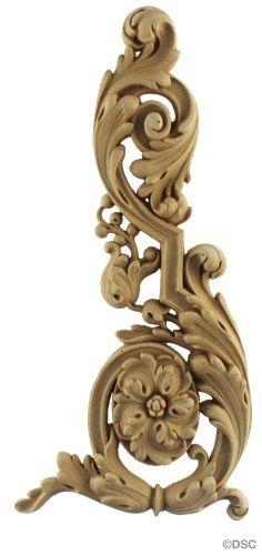 $81.60 - Wall Panel Design - Right Corner Ornament - 13H X 6W