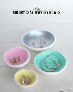 I absolutely adore these DIY Air Dry Clay Jewelry Bowls via @alice lois http://sulia.com/my_thoughts/aa8121f1-9778-4f09-b2e5-793536a1153e/?source=pin&action=share&btn=big&form_factor=desktop