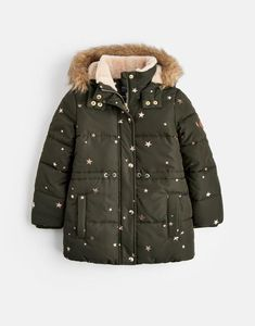 33a561bada8 Joules UK Stella Older Girls Fleece Lined Padded Jacket 3-12yr Night Sky  Star Night