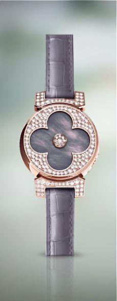 Louis Vuitton diamonds & rose gold... Louis Vuitton Watches, Body Adornment, Luxury Watches, Fashion Watches, Jewelry Bracelets, Jewellery, Bracelet Watch, Fashion Jewelry, White Gold