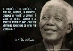 Citations option bonheur: Citation avec portrait de Nelson Mandela
