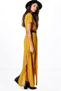 Shelley shirred bandeau maxi dress