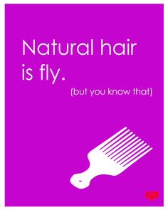 """Natural hair is fly. (but you know that)"""
