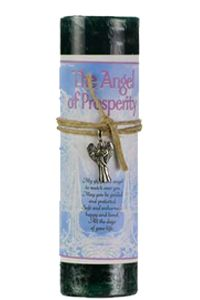 Prosperity Pillar Candle with Angel Necklace
